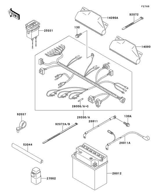 34 Kawasaki Mule 610 Parts Diagram