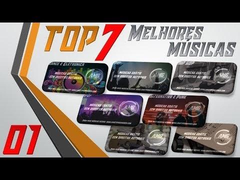 As 7 Melhores Músicas #01 Grátis free use Logo Tipo Designer