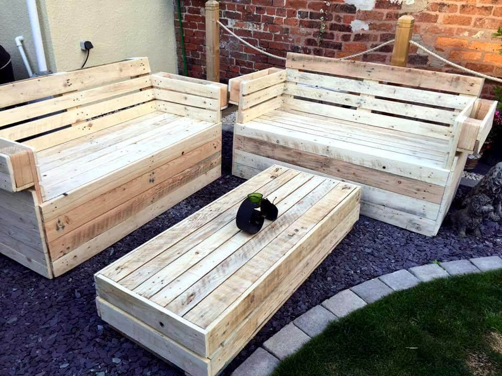 Recycled Wooden Pallet Garden Furniture | 99 Pallets