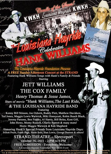 Tribute to the Hayride & Hank: Strand Theater, Sun, Oct 16 by trudeau