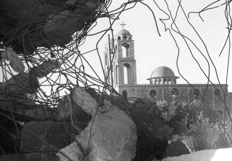 Следы арабо-израильского вооруженного конфликта «Война судного дня» или «Октябрьская война» на Голанских высотах. 1973 г.
