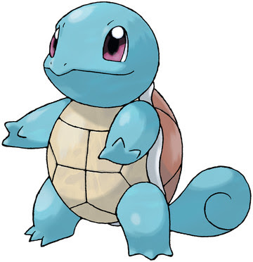 Squirtle artwork by Ken Sugimori