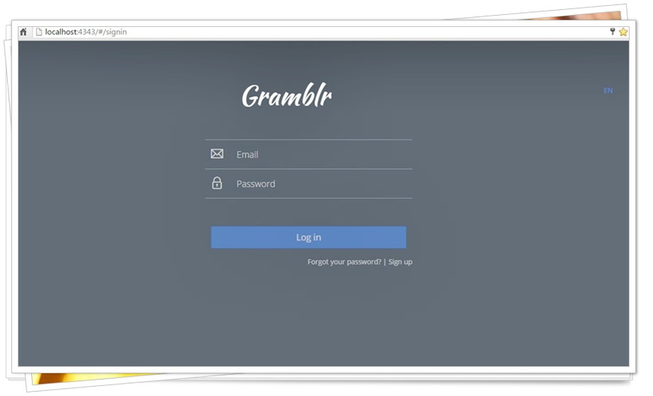 SS Menu Login Gramblr.