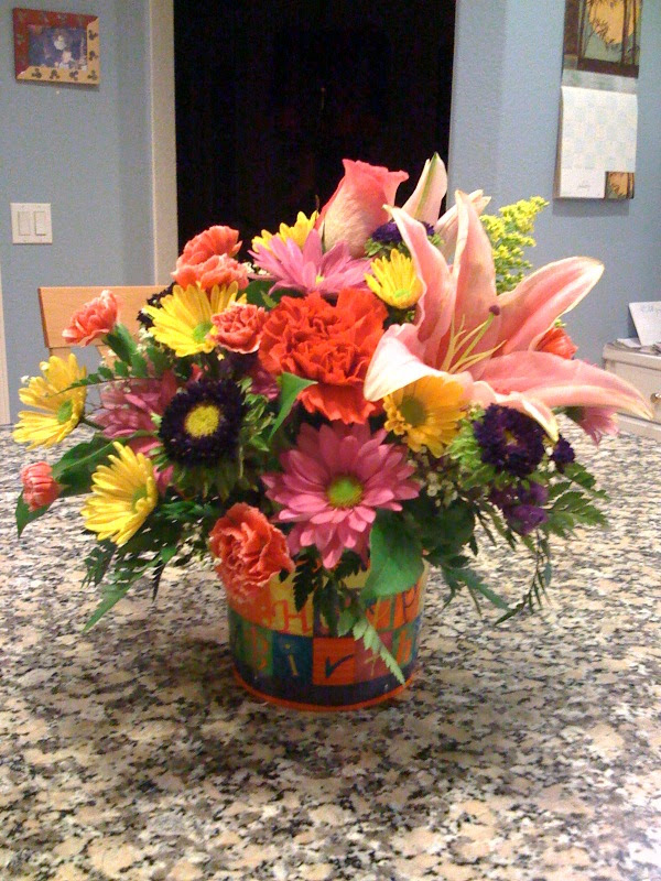 Flowers for Sharon's Birthday