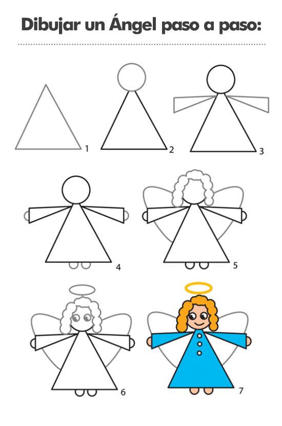 Aprende A Dibujar Un ángel Paso A Paso