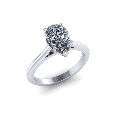 Pear Solitaire Engagement Ring   Jewelry Designs