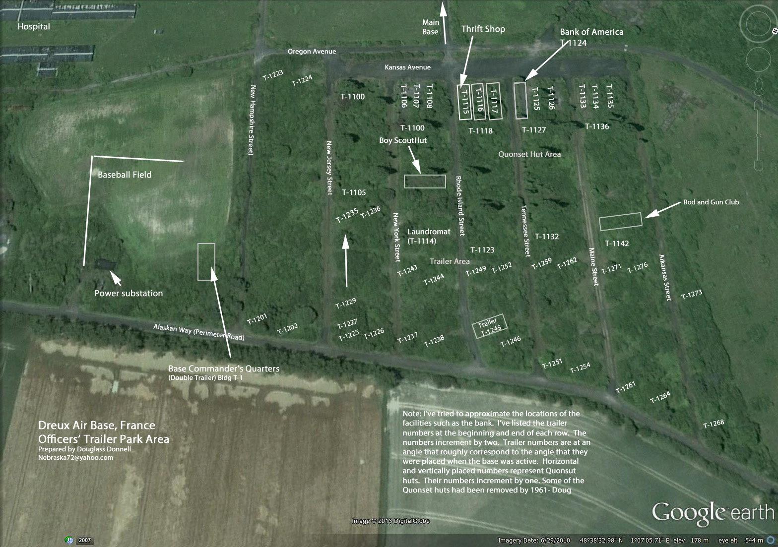 Dreux Air Base Maps And Sketches Dreux Air Base France