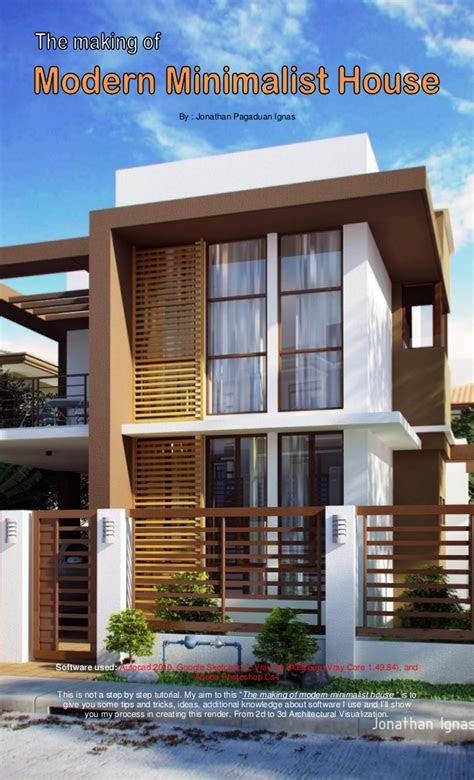 making  modern minimalist house