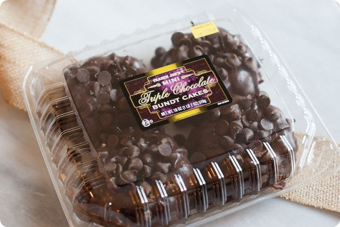 trader joe's mini triple chocolate bundt cakes review #traderjoes