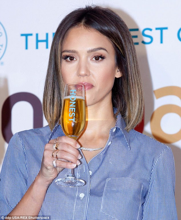 Toast to that: The Honest Company co-founder was in Seoul, South Korea on Thursday to mark the expansion of her products to the country