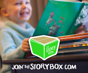 Story Box is a subscription service for books! Each box comes with information about the book and activities to do.