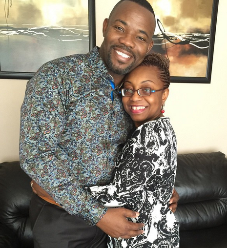 Image result for okey Bakassi and wife