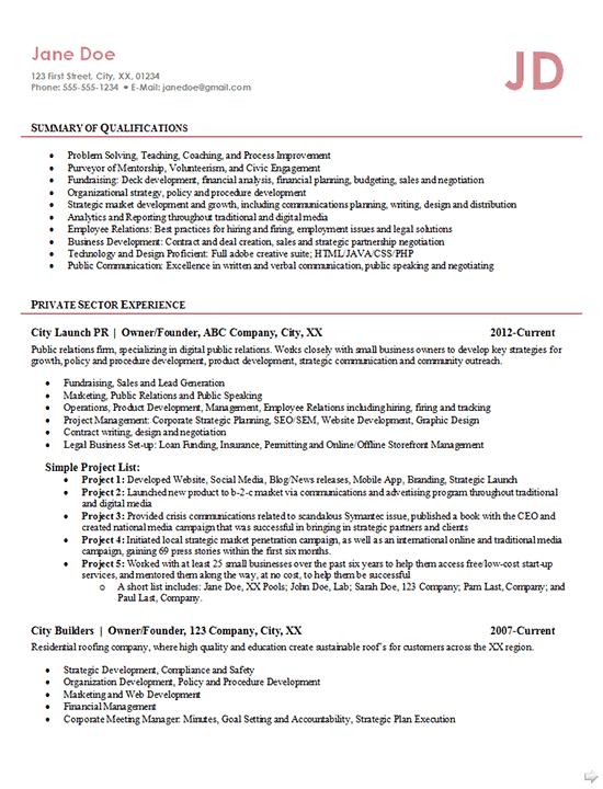 resume1702 entrepreneur