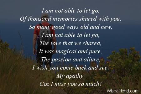 Let Go Missing You Poem