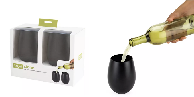 These Matte Black Wine Glasses Will Match The Color Of Your Heart This Halloween