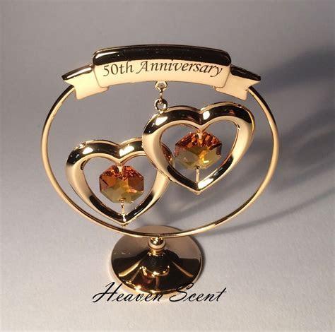golden wedding anniversary gift ideas gold plated