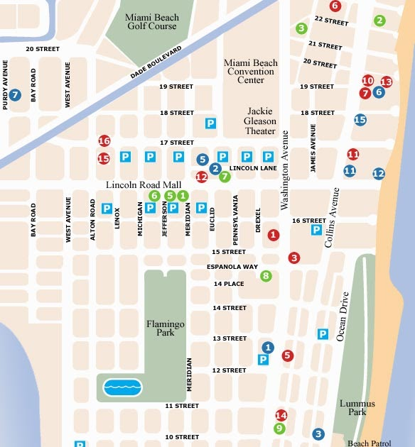 map of miami south beach | draw a topographic map