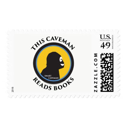 $0.49 Medium Postage Stamps Read Smart Caveman