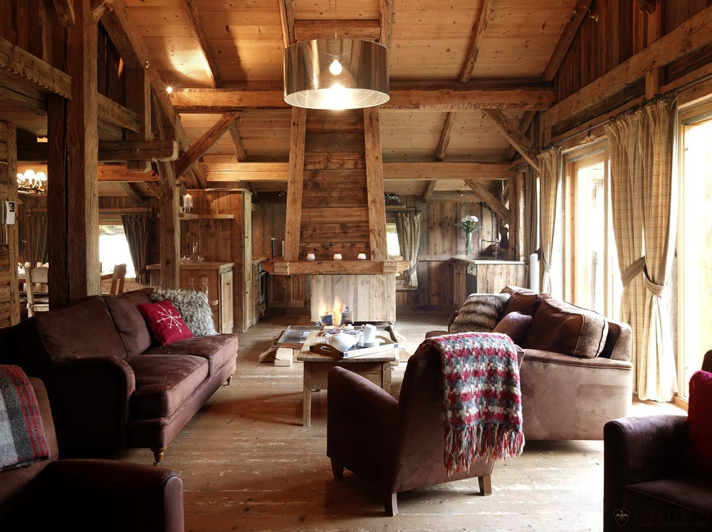 Decordemon chalet in the alps for Decoration interieur chalet montagne