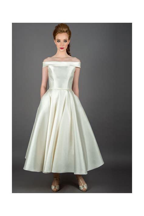 Loulou CALLIE Vintage Mikado Tea Length Wedding Dress