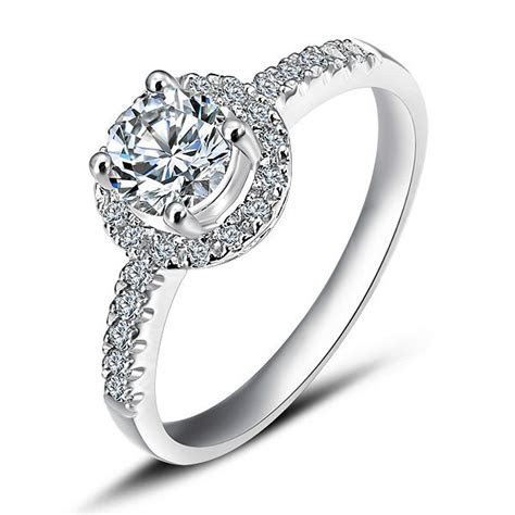 Luxurious Halo Cheap Engagement Ring 0.50 Carat Round Cut