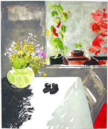 intaglio with photopolymer film, 70 x 60 cm, 2001