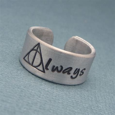 Harry Potter Inspired   Always   A Hand Stamped Aluminum Ring