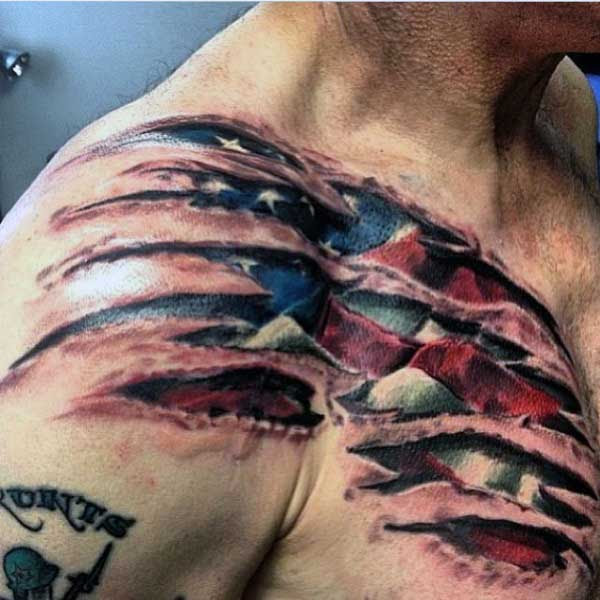 50 Ripped Skin Tattoo Designs For Men Manly Torn Flesh Ink