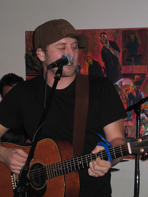 Andrew Heringer at Lunas Cafe