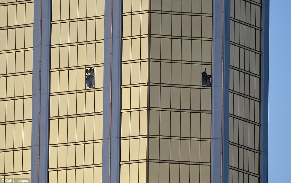 Authorities say Paddock had a large room or connecting rooms on the 32nd floor