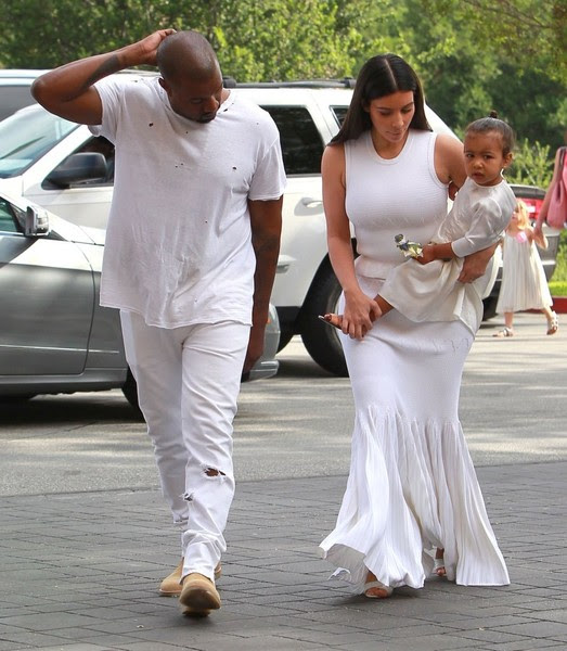 Kanye West and Kim Kardashian Attend Church on Easter Sunday