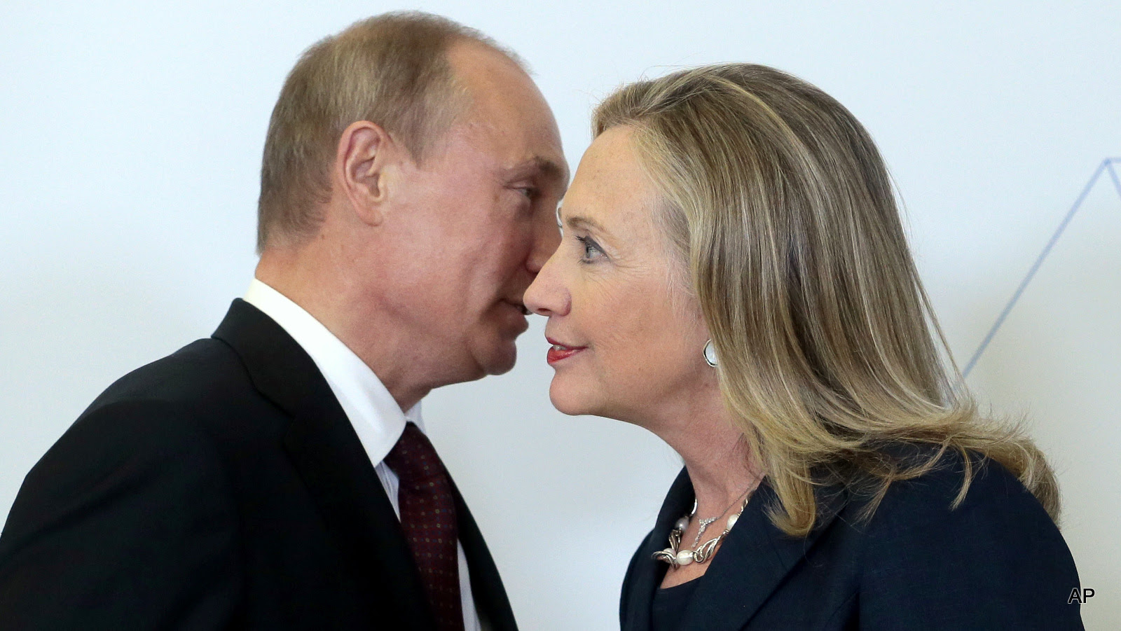Russian President Vladimir Putin meets with then-Secretary of State Hillary Clinton in Vladivostok, Russia in 2012.