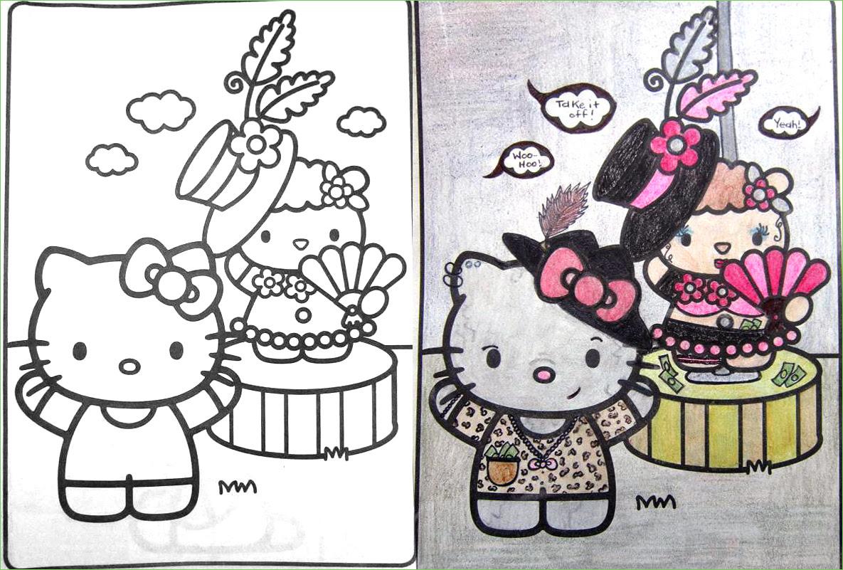 107 Bad Kitty Coloring Book HD