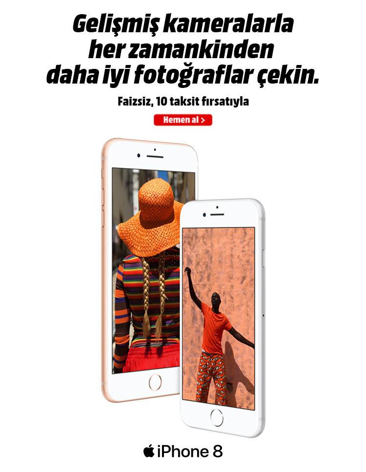iPhone 8. Gelişmiş kameralarla her zamankinden daha iyi fotoğraflar çekin. Faizsiz, 10 taksit fırsatıyla.