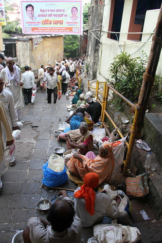 The Beggars of Banganga On Pitru Paksh by firoze shakir photographerno1