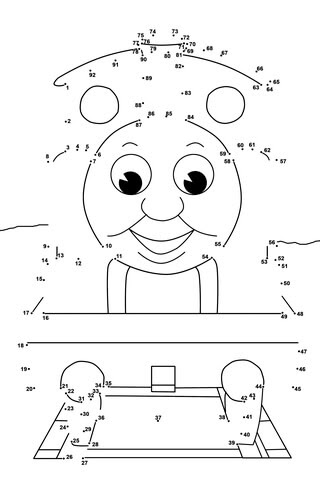 Thomas And Friends Dot To Dot Free Printable Coloring Pages