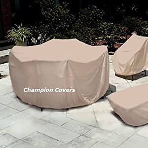 Amazon.com: Champion Patio Love Seat Cover Taupe: Patio, Lawn & Garden