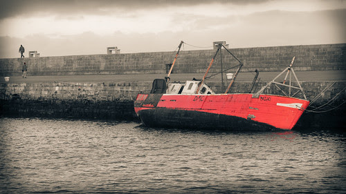 Howth Red Boat by manuel escrig