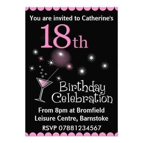 18th Birthday Party Invitation   Zazzle.com   Birthday