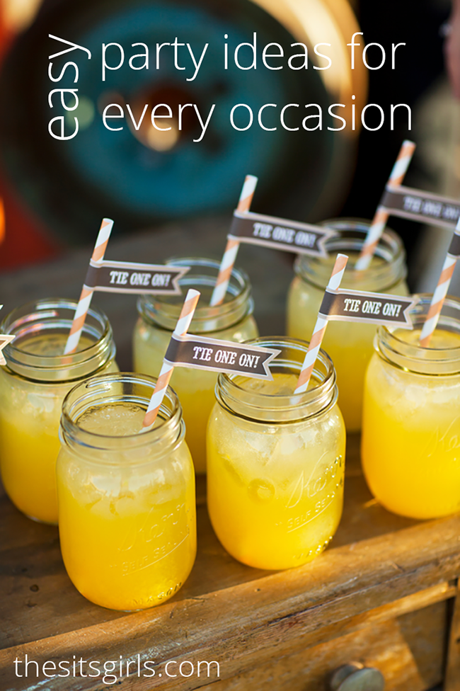 Easy Party Ideas Party Planning And Printables