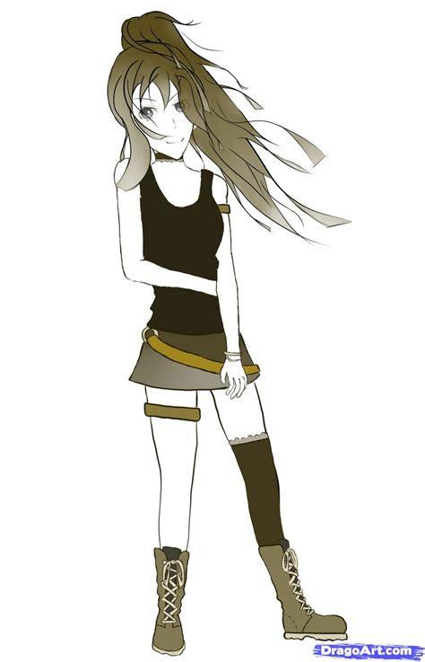 draw  simple anime girl step  step anime