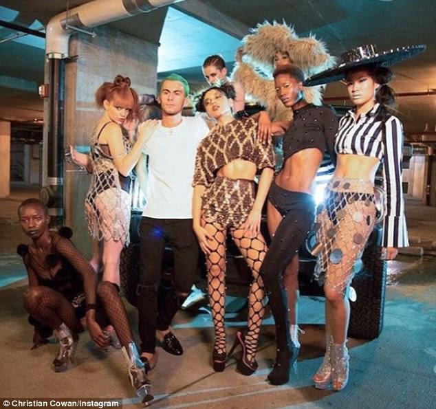 Vixens de vídeo: Cowan e suas criações escassamente vestidas foram apenas destaque no episódio de fevereiro 1 ('The Comeback') do Next Top Model da América em VH1