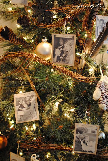 print out photos as ornaments..im going to have to get the brothers to do this to give to parents next yr!!