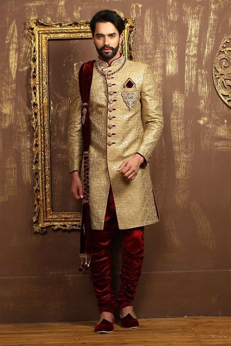 Latest Designer Indo western Sherwani For groom   Men's