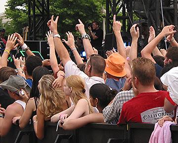 Approval for Bill Idol, Lollapalooza, 2005
