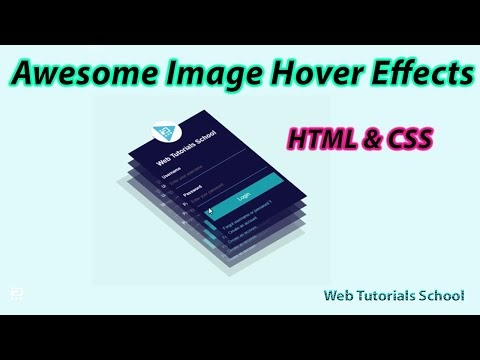 Awesome Image Hover Effects using HTML & CSS
