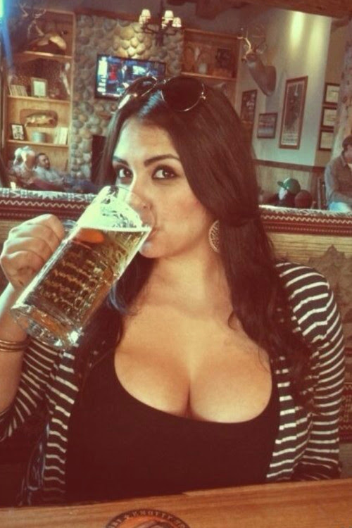 Good Lord! Look at the size of that beer!