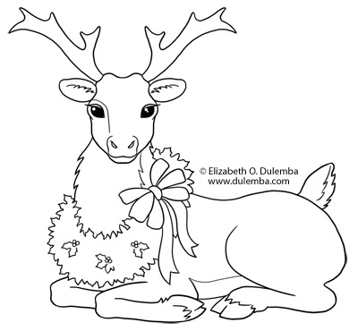 dulemba: Coloring Page Tuesday - Reindeer!