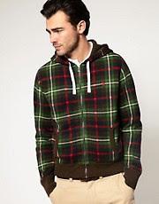 Polo Ralph Lauren Plaid Print Hooded Sweatshirt