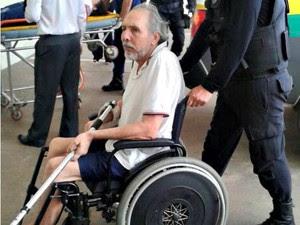 Hildebrando foi internado no hospital de Rio Branco nesta segunda-feira (10) (Foto: Gleyciano Rodrigues/ Arquivo pessoal)